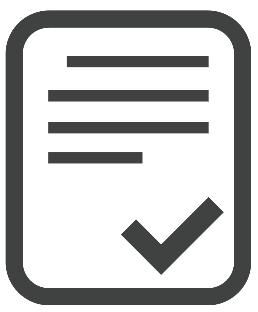 Icon - paper with checkmark